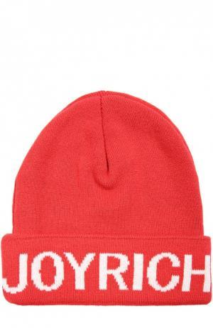 Шапка с логотипом бренда Joyrich. Цвет: красный