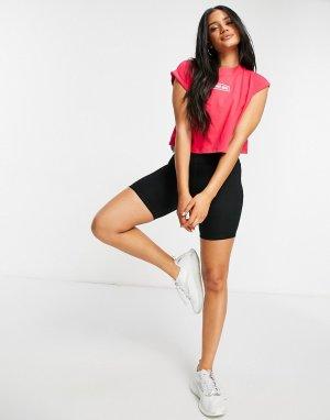 Розовая укороченная майка Flexin-Коричневый цвет Lorna Jane