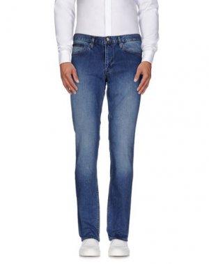 Джинсовые брюки CERRUTI 1881. Цвет: синий