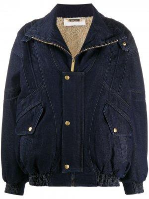 Джинсовая куртка оверсайз Alberta Ferretti. Цвет: синий
