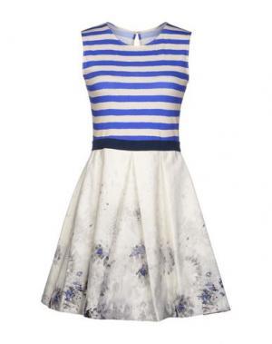 Короткое платье EGGS. Цвет: синий