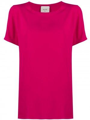 Блузка свободного кроя с короткими рукавами Alysi. Цвет: розовый