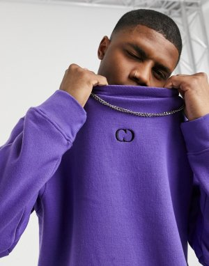 Фиолетовый свитшот из экологичных материалов eco essentials-Фиолетовый цвет Criminal Damage