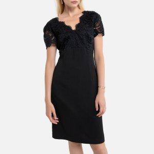 Платье-миди La Redoute. Цвет: черный