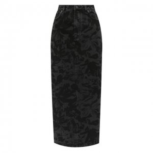 Джинсовая юбка Balenciaga. Цвет: чёрный