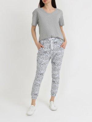 Спортивные брюки Love Moschino. Цвет: belyy
