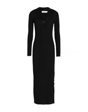 Платье миди CALVIN KLEIN. Цвет: черный