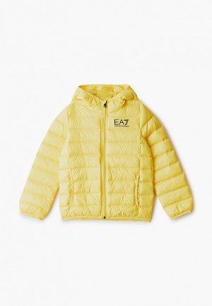 Пуховик EA7. Цвет: желтый