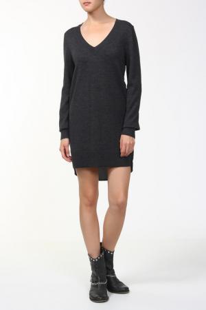 Платье вязаное AMERICAN RETRO. Цвет: серый