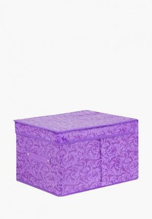 Короб для хранения El Casa. Цвет: фиолетовый
