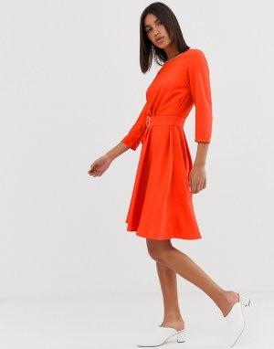 Свободное платье с поясом 2NDDAY June-Красный 2nd Day