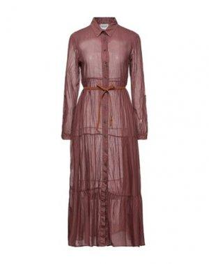 Платье длиной 3/4 DIXIE. Цвет: какао