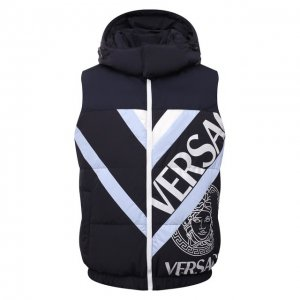Двусторонний жилет Versace. Цвет: синий