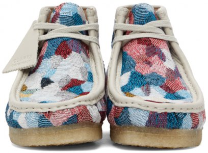 Multicolor Patchwork Wallabee Desert Boots Clarks Originals. Цвет: multicolor