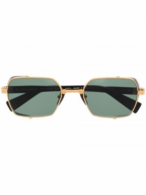 Солнцезащитные очки в прямоугольной оправе Balmain Eyewear. Цвет: черный