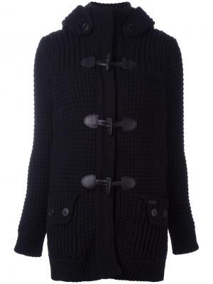Куртка с меховым капюшоном Bark. Цвет: чёрный