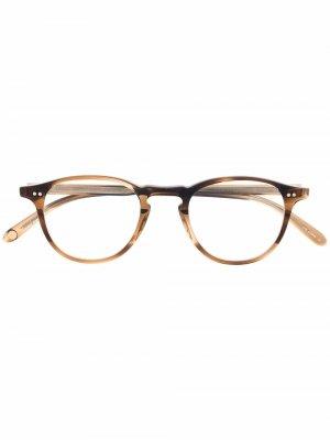 Очки Hampton в круглой оправе Garrett Leight. Цвет: коричневый