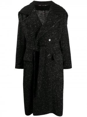 Длинное двубортное пальто Dolce & Gabbana. Цвет: черный