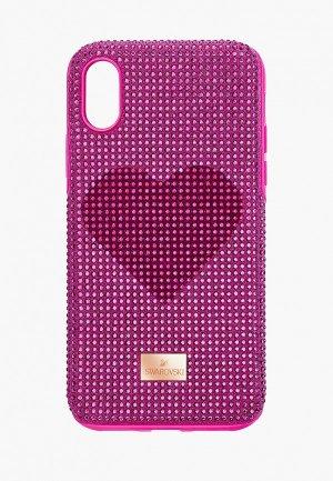 Чехол для iPhone Swarovski® X Crystalgram. Цвет: розовый