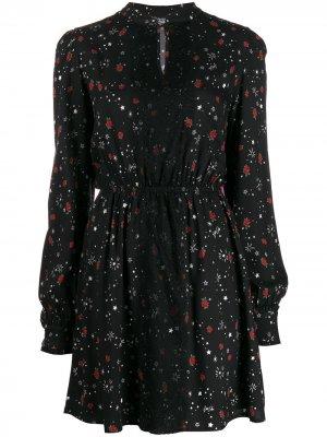 Платье с принтом LIU JO. Цвет: черный