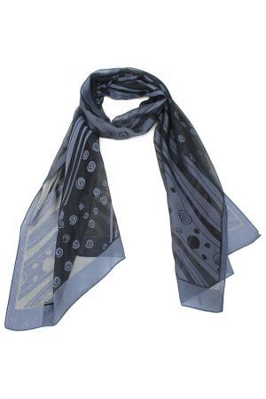 Шарф F.FRANTELLI. Цвет: серо-синий, черный