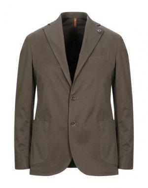 Пиджак GABARDINE. Цвет: зеленый-милитари