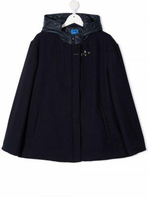 TEEN padded-hood long-sleeved jacket Fay Kids. Цвет: синий