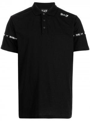 Рубашка поло с логотипом Ea7 Emporio Armani. Цвет: черный