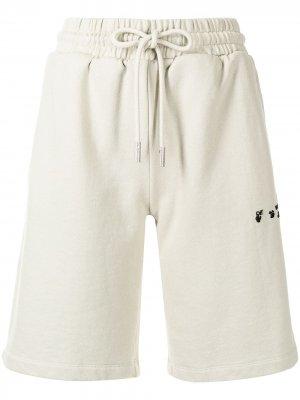 Спортивные шорты с логотипом Off-White. Цвет: нейтральные цвета