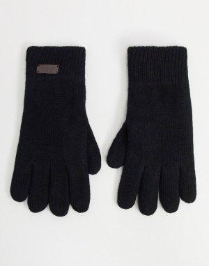 Черные перчатки с флисовой подкладкой -Черный Barbour
