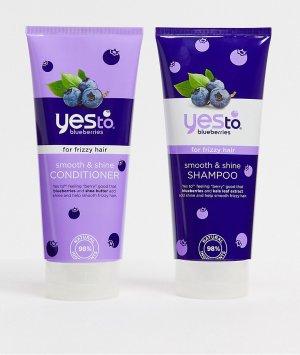 Шампунь и кондиционер для вьющихся волос Yes to Blueberries (2 x 280 мл)-Бесцветный