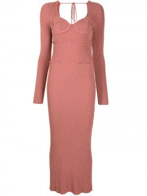 Платье Louisa в рубчик Altuzarra. Цвет: розовый