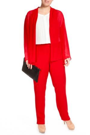 Рубашка-блузка Elena Miro. Цвет: красный