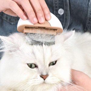 1шт Случайный гребень для волос 2 в 1 домашних животных SHEIN. Цвет: многоцветный