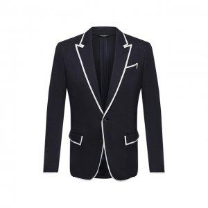 Пиджак Dolce & Gabbana. Цвет: синий