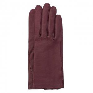 Кожаные перчатки с подкладкой из шелка Agnelle. Цвет: фиолетовый