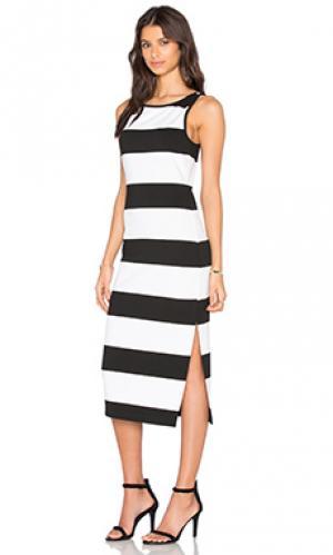 Платье миди francesca BB Dakota. Цвет: black & white