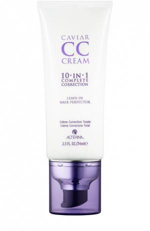 Несмываемый крем-уход для волос Caviar CC Cream Alterna. Цвет: бесцветный
