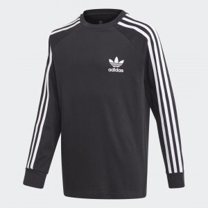 Лонгслив 3-Stripes Originals adidas. Цвет: черный