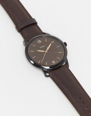 Часы с кожаным коричневым ремешком FS5551-Коричневый Fossil