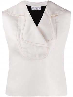 Блузка 1990-х годов без рукавов Gianfranco Ferré Pre-Owned. Цвет: белый