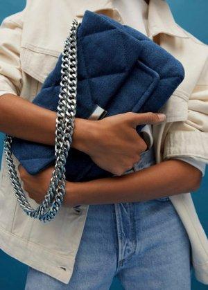 Стеганая сумка из денима - Pernille Mango. Цвет: синий
