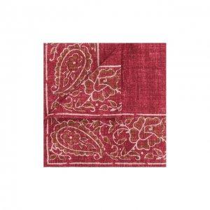 Носовой платок из смеси шелка и хлопка Brunello Cucinelli. Цвет: коричневый