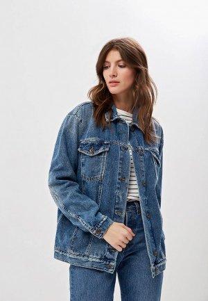 Куртка джинсовая Free People. Цвет: синий