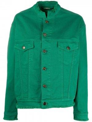 Джинсовая куртка оверсайз Alexandre Vauthier. Цвет: зеленый