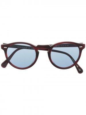Солнцезащитные очки Gregory Peck Oliver Peoples. Цвет: красный