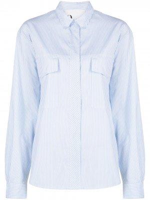 Рубашка в тонкую полоску 8pm. Цвет: белый