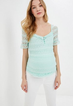 Блуза Dorothy Perkins Maternity. Цвет: бирюзовый