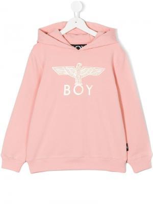 Толстовка с капюшоном принтом Eagle Boy London Kids. Цвет: розовый
