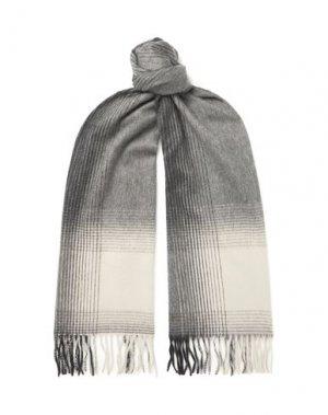 Шарф BEGG & CO. Цвет: серый